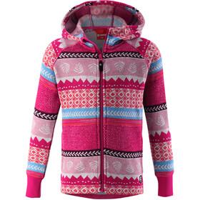 Reima Northern Sweter z polarem Dzieci, raspberry pink